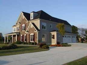Home with level driveway.