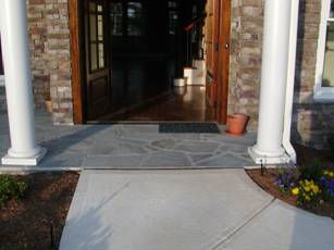 Wide, zero-step front entry home.